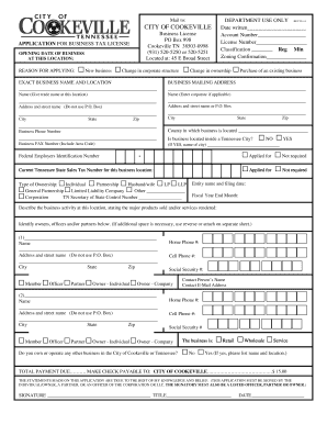Printable business tax license tn - Fill Out & Download