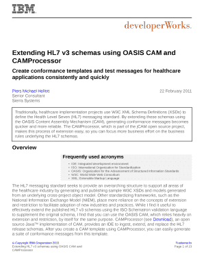 Extending HL7 v3 schemas using OASIS CAM and  - IBM