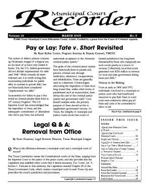 March 2003 Recorder - Texas Municipal Courts Education Center