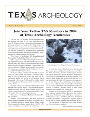 TAS Winter 04.p65 - Texas Archeological Society - txarch