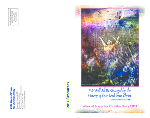 2012 Week of Prayer for Christian Unity - Graymoor Ecumenical and