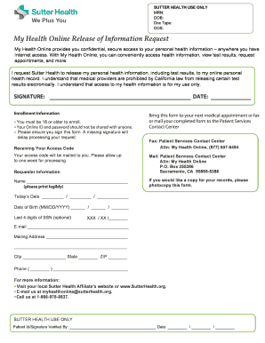 Printable sutter health online - Edit, Fill Out & Download Samples