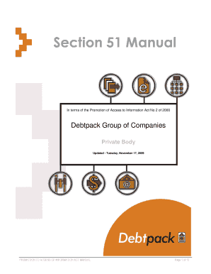 debtpack section 51 manual form
