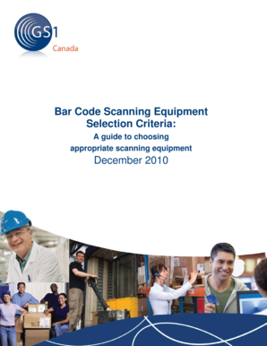 Bar Code Scanning Equipment Selection Criteria: December 2010