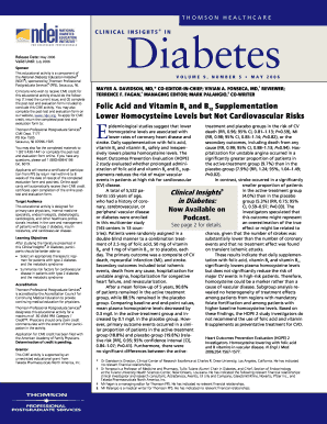 Volume 9, Number 5 May 2006 - National Diabetes Education Initiative