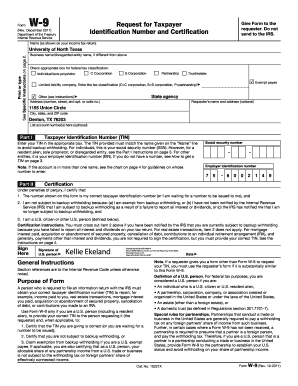 Fillable Online careercenter unt Form W-9 - Career Center ...