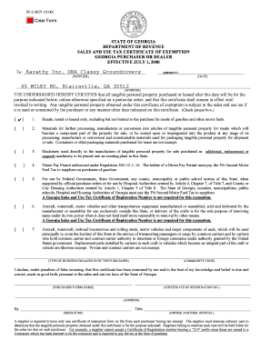 Georgia Sales Tax Exemption Form Non Profit - Fill Online ...