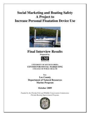 Social Marketing and Boating Safety Final Report Interviews - lee ifas ufl
