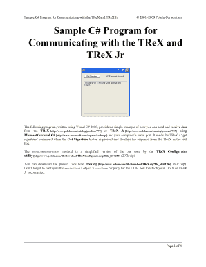 Pololu - Sample C# Program for Communicating with the TReX and ...