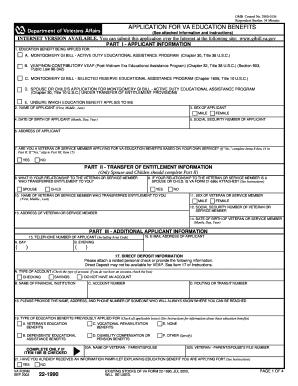 Fillable Online mass VA Form 22-1990 - Mass.Gov Fax Email Print ...