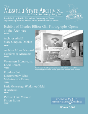 Winter 2009 Newsletter - Friends of the Missouri State Archives - friendsofmsa