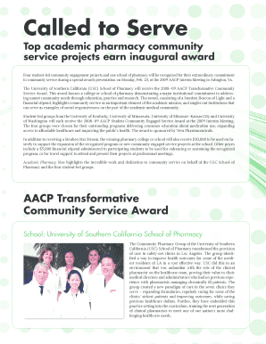 Student Community Engaged Service Awards - AACP - aacp