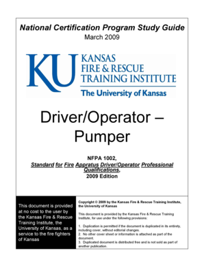 Driver/Operator Pumper - The University of Kansas - continuinged ku