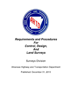 Fillable Online Requirements And Procedures Arkansas State Highway