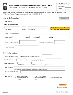 Fillable Online Clean Water Sticker Form - Eagle Point Marina Fax
