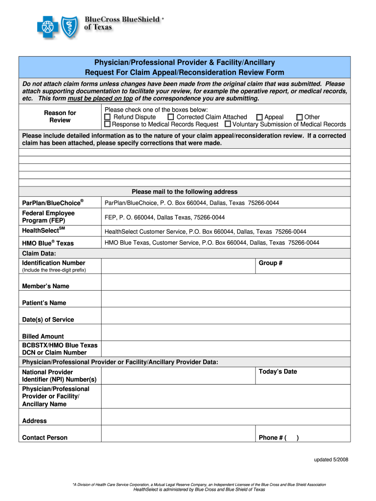 Tx Reconsideration Form - Fill Online, Printable, Fillable ...