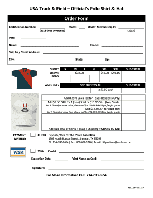 usatf officials shirt form
