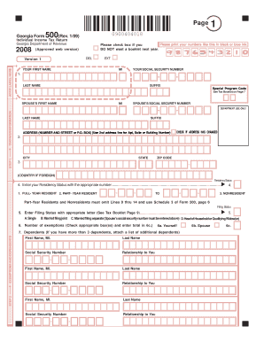 Georgia Form 500 2015 - Fill Online, Printable, Fillable, Blank ...