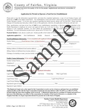 Permit To Operate A Food Service Establishment