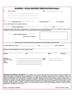 Child Support Verification Form - Fill Online, Printable, Fillable ...