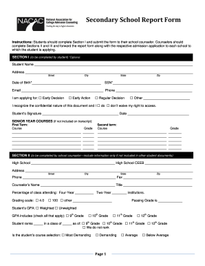 School Report Form - Fill Online, Printable, Fillable, Blank ...