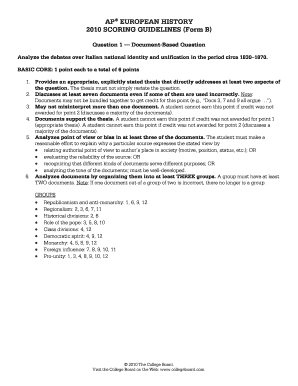 italian unification dbq ap european history exam 2010 Ap european history syllabus   students must take the advanced placement exam offered in may  italian unification: comparison of four plans for unification in .