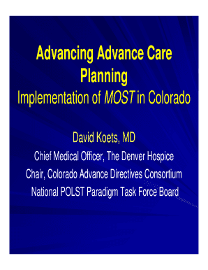 Polst vs advance directive forms and templates fillable for Advance care plan template