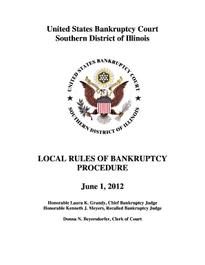 Fillable Online Ilsb Uscourts United States Bankruptcy Court