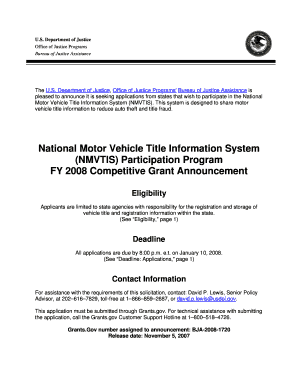 National Motor Vehicle Title Information System (NMVTIS) - bja