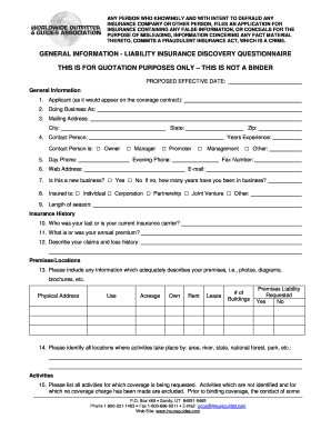 woga insurance review form
