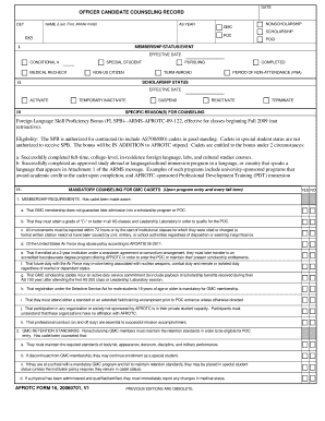 Form 16 Afrotc - Fill Online, Printable, Fillable, Blank | PDFfiller