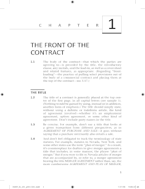 THE FRONT OF THE CONTRACT - American Bar Association - apps americanbar