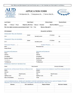 Please help regarding the Application Form to American Universities?