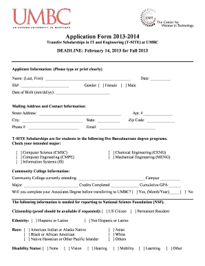 umbc application form 2014 Fill Online, Printable, Fillable, Blank ...