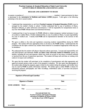 Permission Slip Form - Saint Louis University - slu