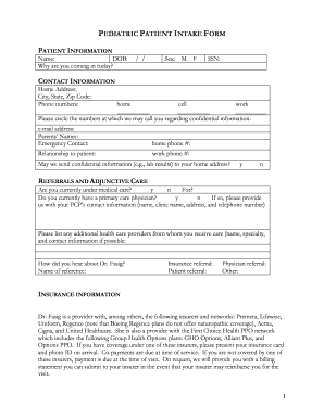 11 Printable free patient intake form template - Fillable Samples in