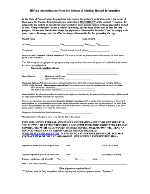 Hipaa Authorization To Release Medical Records Fillable Form ...