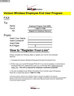Fillable Online westernu Verizon Wireless Employee End User ...
