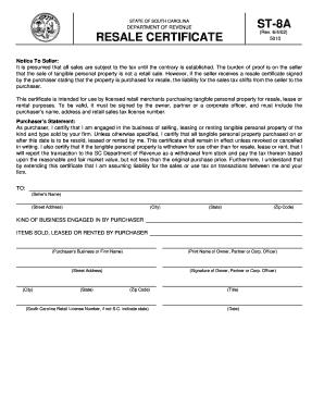 St8a Form Sc - Fill Online, Printable, Fillable, Blank   PDFfiller
