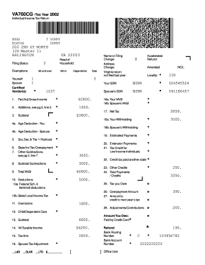 Virginia State Tax Return Form 760 Barcode - Fill Online ...