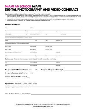 Photography U0026 Video Contract Form. Islamic Marriage Contract Form