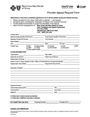 Blue Shield Provider Dispute Resolution Form - Fill Online ...