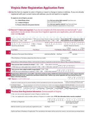 Bill Of Sale Form Virginia Voter Registration Application Form ...