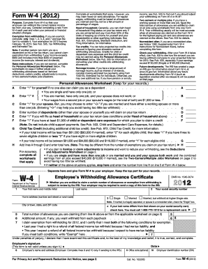 2012 Maine W 4 Form - Fill Online, Printable, Fillable, Blank ...