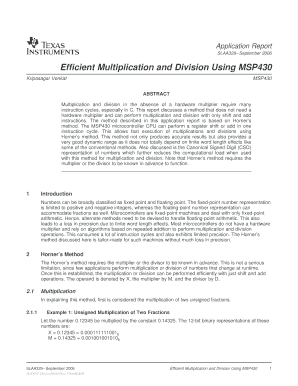 multiplcation and division form