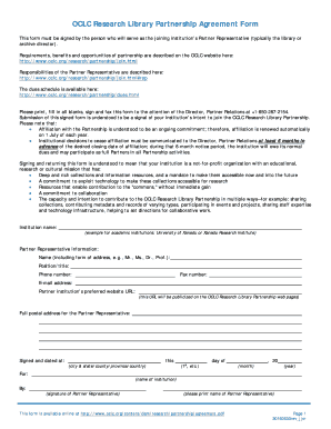 oclc research library partnership agreement form