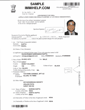 Sample Of Filled Passport Form - Fill Online, Printable, Fillable ...