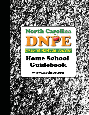 ncdnpe Ncdnpe Homeschool - Fill Online, Printable, Fillable, Blank | PDFfiller