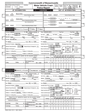 massachusetts motor vehicle crash report