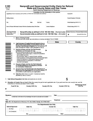 Ncdor Form E 585 Fillable - Fill Online, Printable, Fillable ...